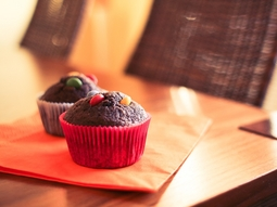 Muffins au chocolat et smarties