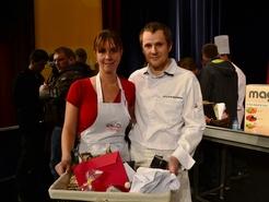 La gagnante Laure et son coach Benjamin Barrère