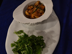 Croustillant champignons et pesto de roquette