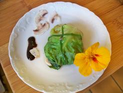 Pannequets de champignons à la vapeur