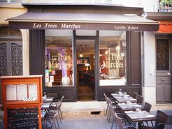 Entrée du restaurant Les Trois Marches