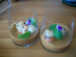 Panna Cotta de Saint-Jacques