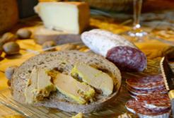 Foie gras saucisson fromage