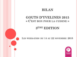Couverture Bilan Goûts d'Yvelines 2015